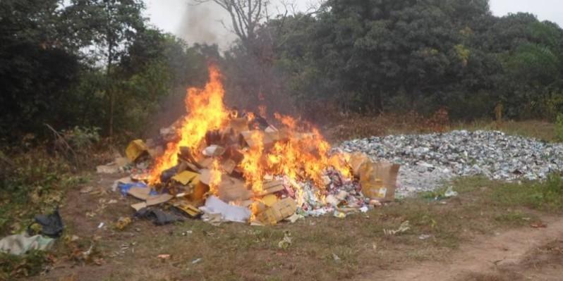 Les produits ont été incinérés.