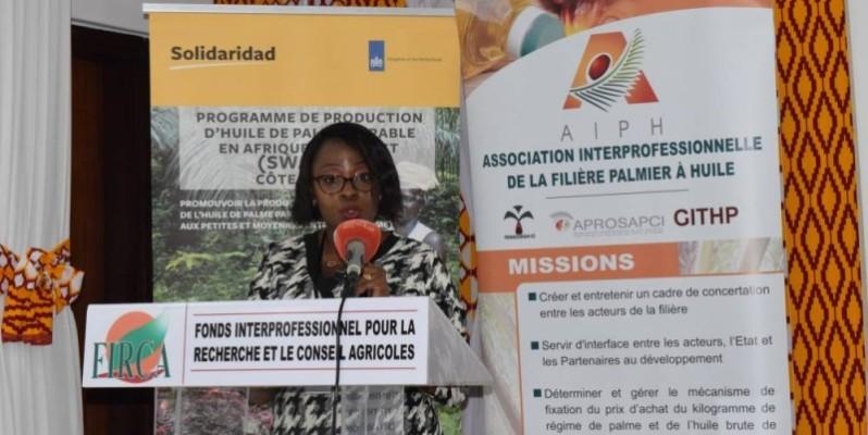 Sophiatou Colliee, la gestionnaire du programme palmier à huile à Solidaridad, rêve d'une filière qui prospère avec la contribution des femmes et des jeunes. (Dr)