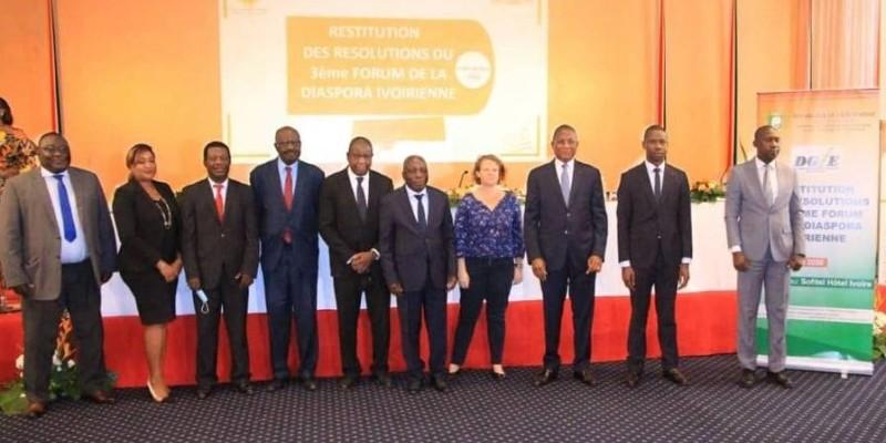 Les participants à cet atelier ont évoqué à tour de rôle, les différentes initiatives prises par le gouvernement en faveur de la diaspora. (DR)