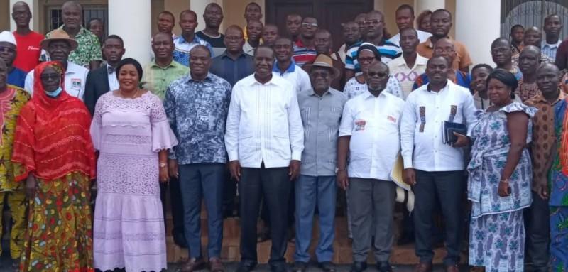 Les militants du rhdp du Moronou mobilisés pour les élections locales (DR)