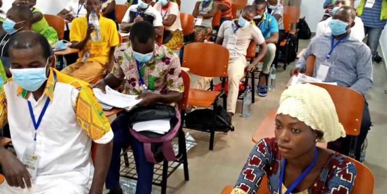 Des jeunes du monde rural venus de plusieurs localités de la région de Gbêkê ont pris part à cette série d'ateliers. (photo : Dr)