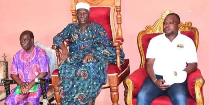 Vincent Toh Bi, ex-préfet d'Abidjan, était à Daoukro, le 10 décembre, pour s'imprégner des réalités de la récente crise intercommunautaire. (Dr)
