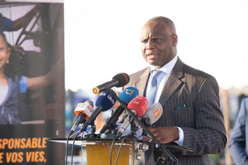 Le directeur de cabinet du ministère des Transports, Ahmed Diomandé, a procédé au lancement de la campagne de répression. (Dr)
