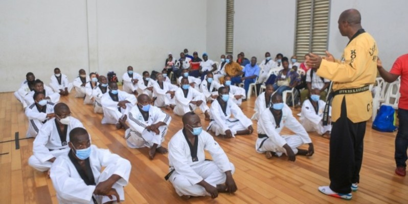 Plusieurs taekwondo-in ivoiriens vont bientôt changer de grade. (photo : Dr)