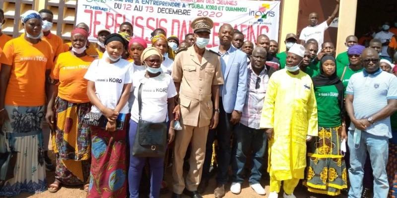 Les bénéficiaires de la formation à l'entrepreneuriat ont exprimé leur reconnaissance aux formateurs et au ministre du Budget et du Portefeuille de l'État, Moussa Sanogo. (DR)