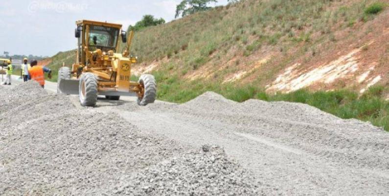 Plusieurs kilomètres de routes construites en 2020, malgré la Covid-19. (DR)
