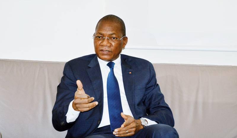 Le ministre Bruno Nabagné Koné, directeur de campagne du Chef de l'Etat Alassane Ouattara dans la Bagoué. (photo : Julien Monsan)