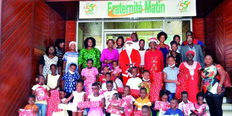 Les enfants sont repartis les bras chargés de cadeaux. (Julien Monsan)
