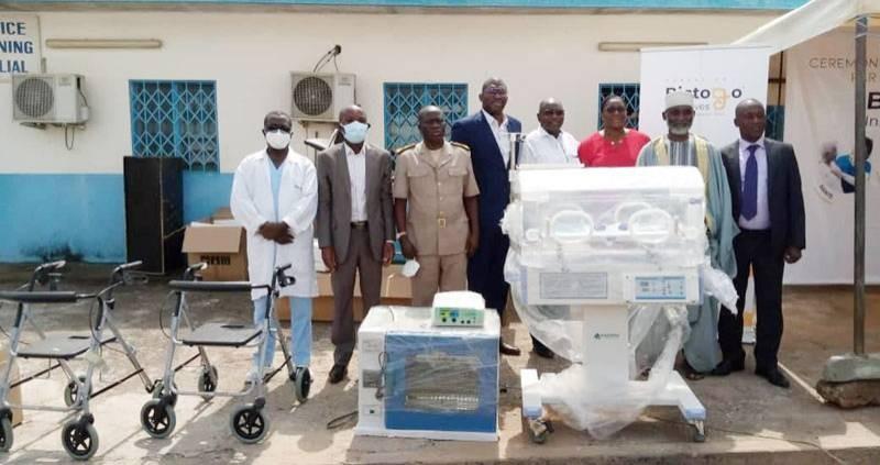 Une vue du don fait par la Fondation Bictogo initiatives au Chr d'Agboville. (Dr)