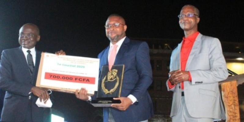 Le journaliste ivoirien, Jonas Baikeh, a remporté le Prix Alfred Dan Moussa du meilleur journaliste web. (Dr)