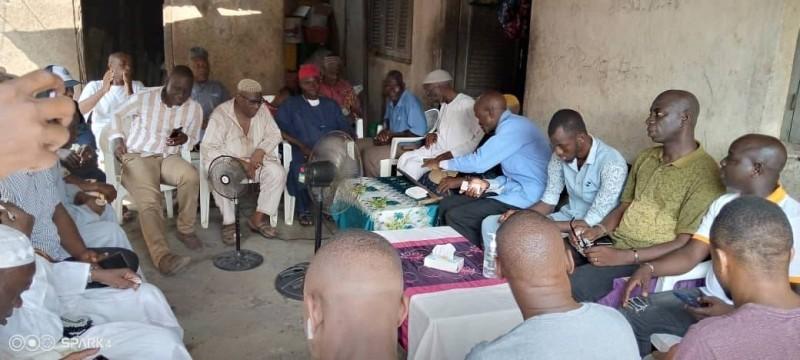 Des communautés du garnd Nord d'Anyama instruites sur la candidature de Fatim Bamba Couliaby. (DR)