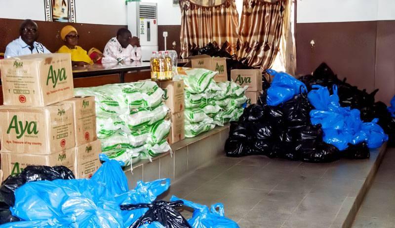 Une vue des dons faits par le maire de Katiola Thomas Camara. (Dr)