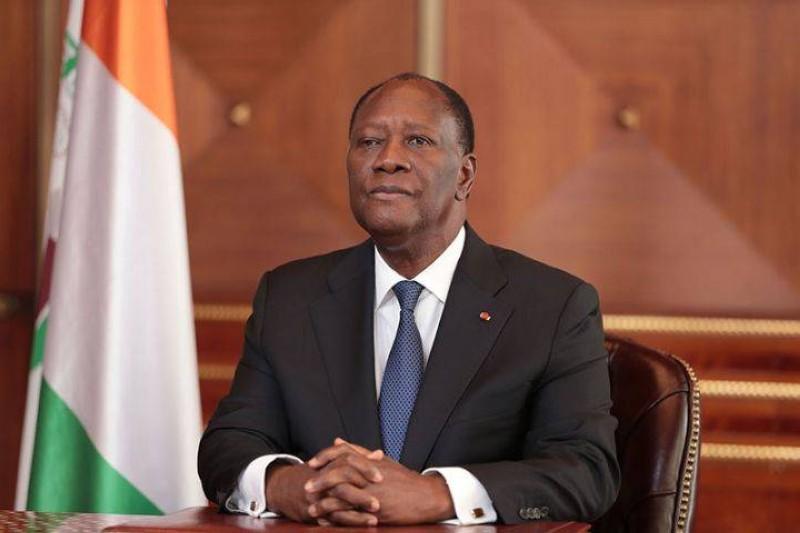 Le Président Ouattara lors de son adresse à la Nation. (Dr)