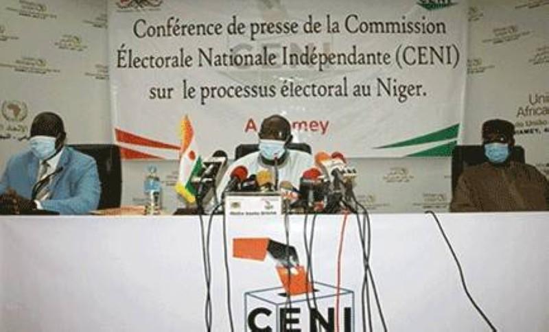 La conférence de presse de la Commission électorale nationale indépendante (Céni). (DR)