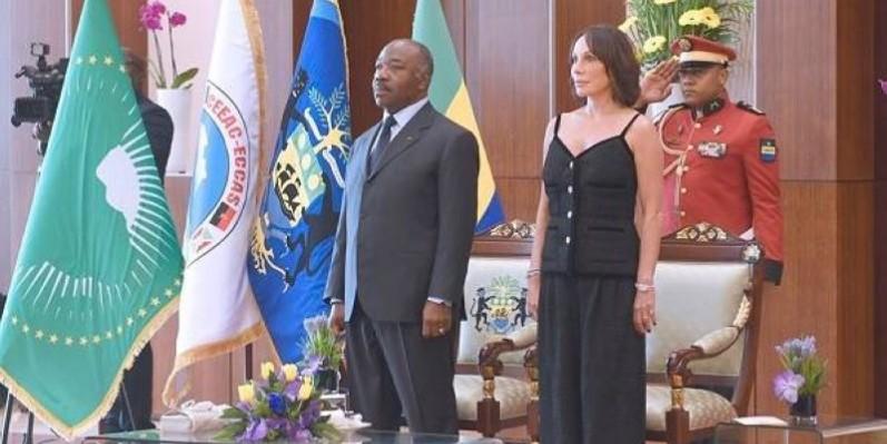 Le Président gabonais et son épouse. (DR)