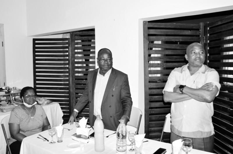 Le directeur général, Venance Konan, a saisi l'opportunité pour remobiliser son groupe. (Julien Monsan)