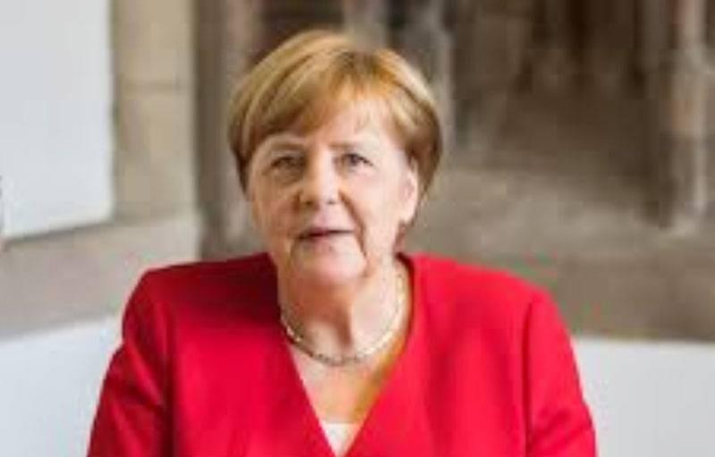 La Chancelière allemande, Angela Merkel. (Dr)