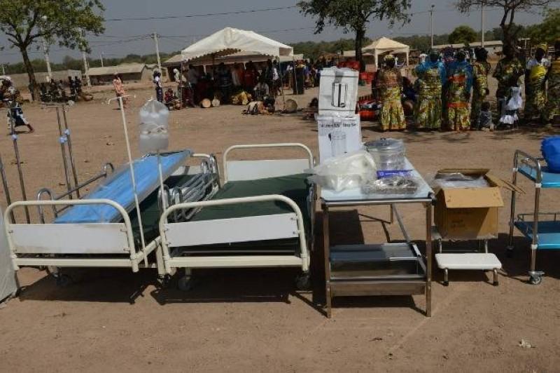 Une vue du matériel remis au centre de santé de Ponvogo par la Première dame.