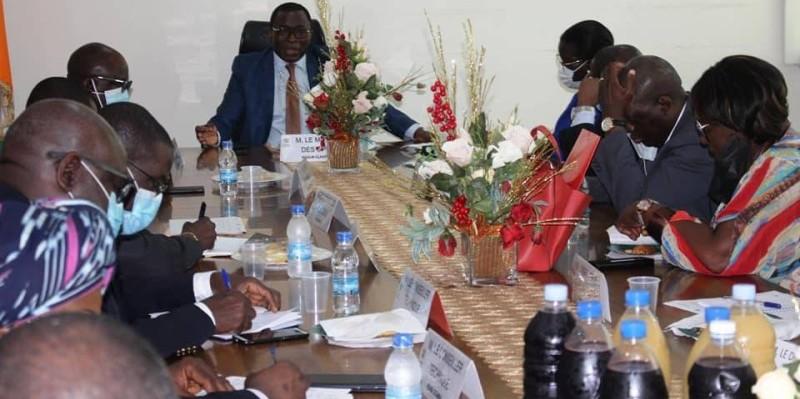 Le ministre Danho Paulin et ses collaborateurs pensent au future (DR)