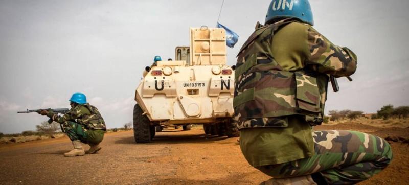Une vue de Casques bleus en pleine mission au Mali. (Dr)