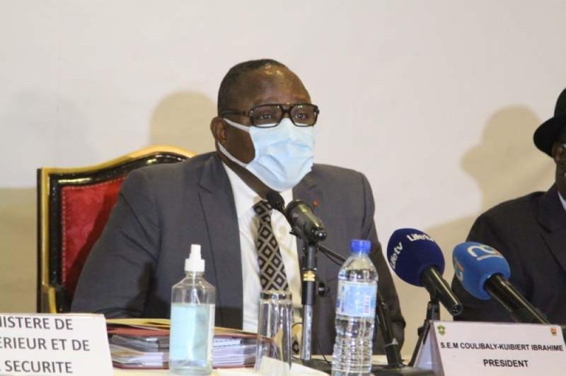 Le président de la Cei, Ibrahime Coulibaly-Kuibiert. (Photo : Véronique Dadié)