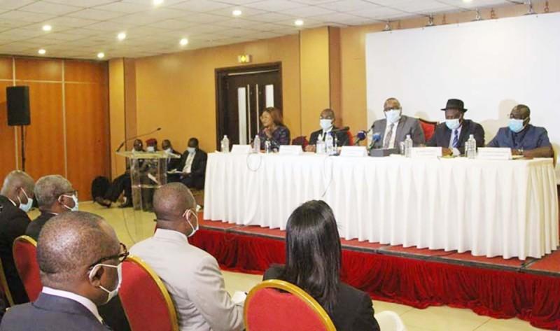 Le président de la Cei a informé ses interlocuteurs sur le mode opératoire de l'organisation des législatives. (Photo : Véronique Dadié)