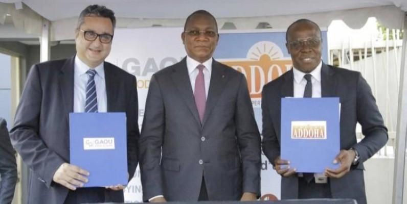 La cérémonie de signature a été présidée par le ministre de la Construction, du Logement et de l'Urbanisme, Bruno Nabagné Koné. (Dr)