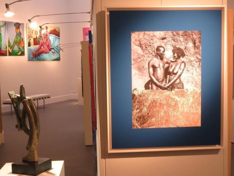 ART-Une des deux photographies de Benjamin Deroche (à droite). (©Côté Brest)