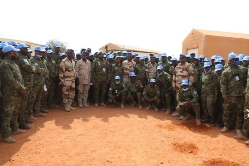 Le général de corps d'armée, Lassina Doumbia et ses hommes au Mali