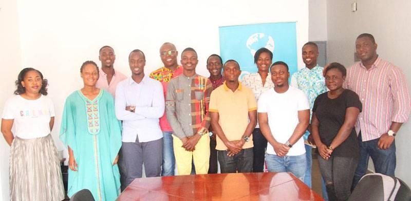 Plusieurs étudiants, membres de l'association, ont pris part à la cérémonie de présentation des activités du Common action. (Photo : Dr)