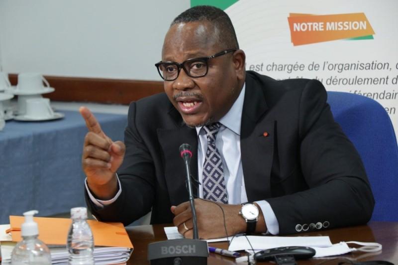 Le président de la Cei, Ibrahime Coulibaly-Kuibiert. (DR)