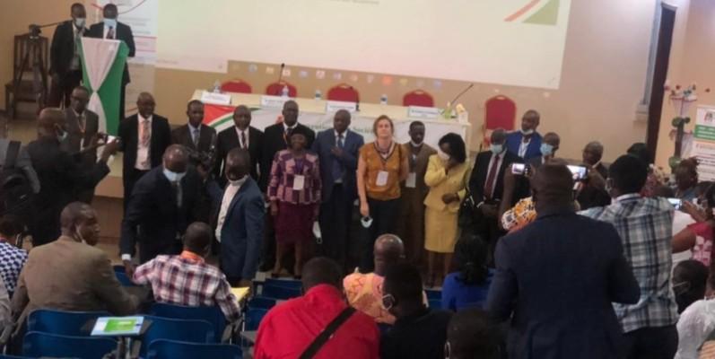 Les acteurs de la Convention de la société civile de Côte d'Ivoire (Csci) remobilisés pour relever des défis. (Photo : DR)