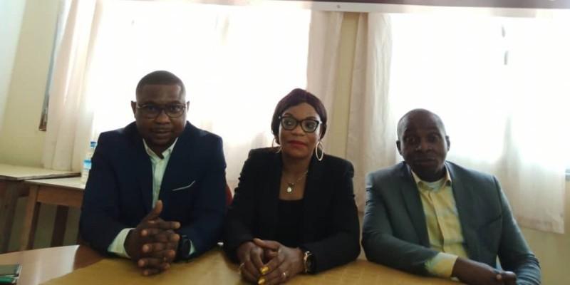 L'évangéliste Adou Élisabeth Zorobabel, présidente de l'Ong Le Samaritain (au centre) entourée de ses collaborateurs.(DR)