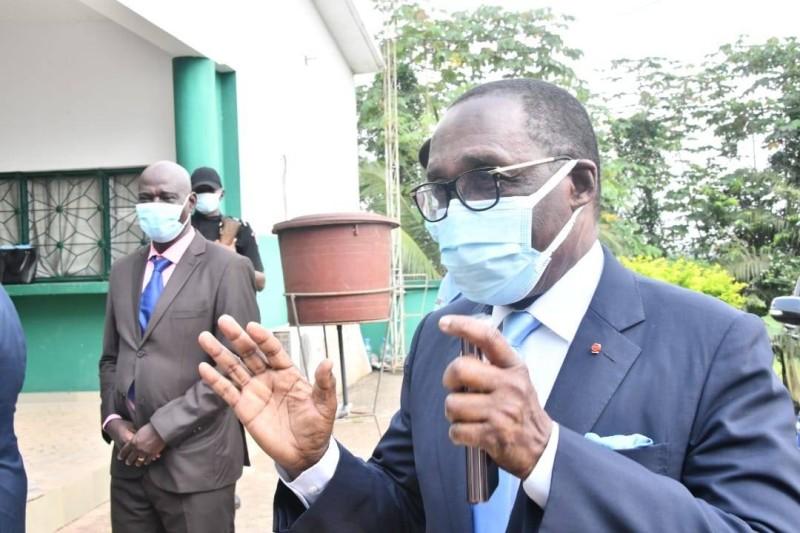 Le ministre Akak Aouélé invite les populations au respect des mesures barrières (DR)