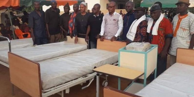 Une vue du matériel médical reçu par le centre de santé urbain d'Olodio.