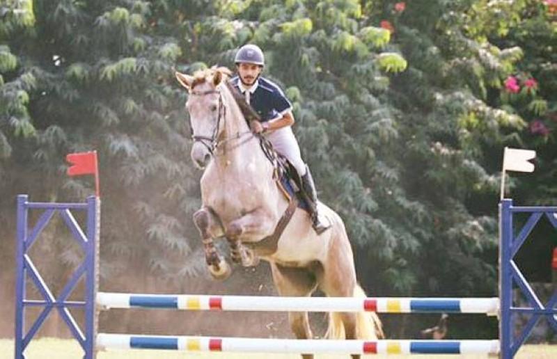 Romain Boyer a remporté le 120 cm à domicile, à Horse Academy. (DR)