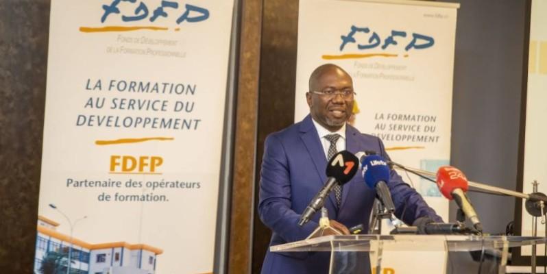 Cette rencontre a permis au Secrétaire général du FDFP de communiquer sur les performances de son institution. (DR)