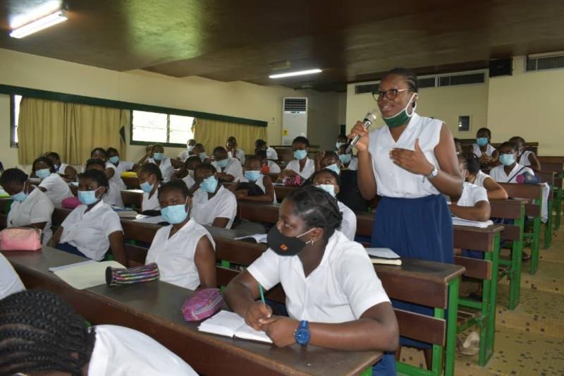 Les lycéennes ont été très intéressées par les différentes interventions. (DR)