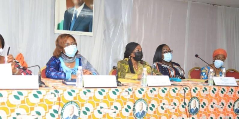 Kandia Camara entend tout mettre en œuvre pour permettre aux candidates du RHDP de sortir victorieuse des législatives du 6 mars. (DR)