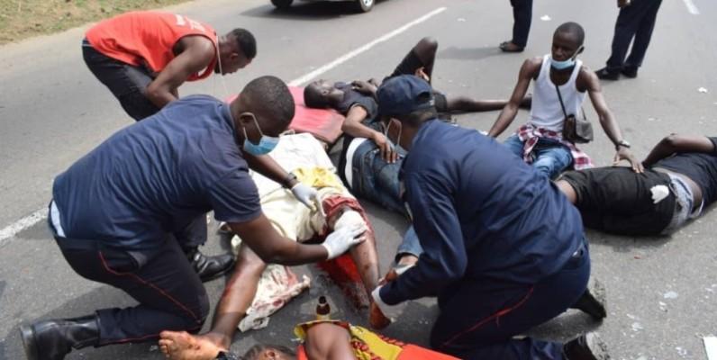 Les secours ont enregistré plusieurs cas graves parmi les blessés. (Gspm)