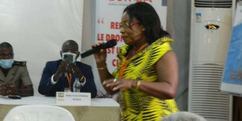 Antoinette Konan, sociétaire du Burida (J. Bavane)