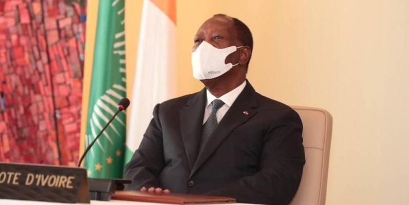Le Président Alassane Ouattara a pris part au Sommet des Chefs d'Etat et de gouvernement de l'Ua par visioconférence. (DR)