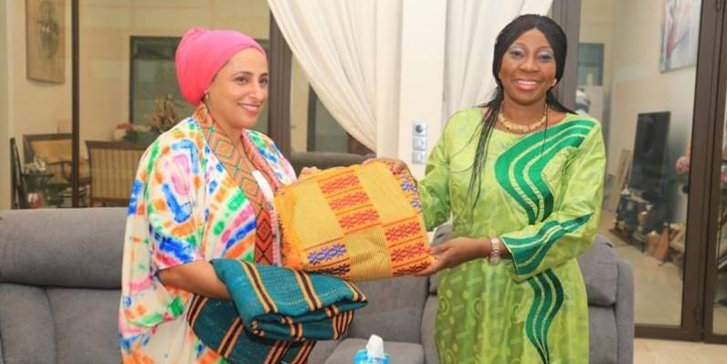 Kandia Camara a apprécié à juste titre les félicitations de la Princesse Qasimi.(DR)