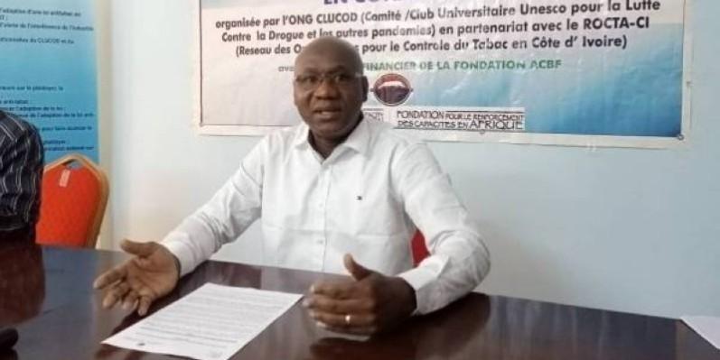 Tall Lacina, président du Club universitaire Unesco pour la lutte contre la drogue et autres pandémies (Clucod). (DR)