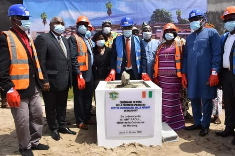 Cérémonie de pose de la première pierre marquant le lancement des travaux de modernisation de « Mille maquis ».