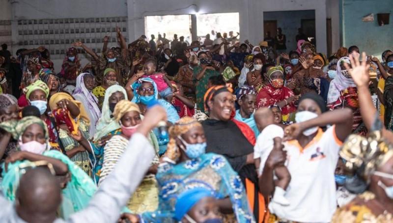 Des partisans du ministre Amadou Koné ont effectués nombreux le deplacement