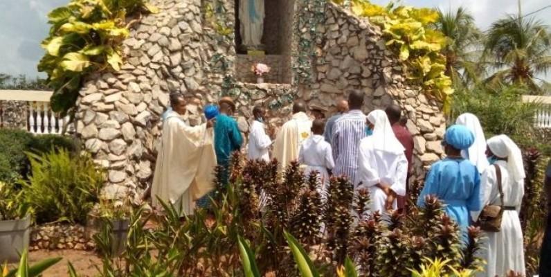 Les chrétiens ont célébré le troisième anniversaire du sanctuaire. (DR)