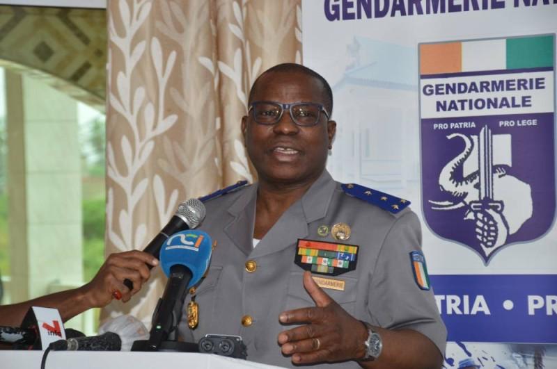 Le général Apalo Touré a ouvert officiellement le séminaire bilan de gendarmerie qui se tient à Jacqueville. (Ph: Julien Monsan)