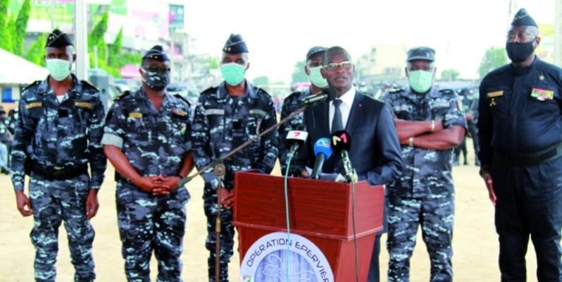 Le général Vagondo Diomandé a mis en garde les individus mal inspirés qui veulent troubler la quiétude des Ivoiriens. (DR)