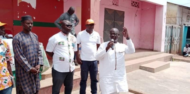 Venance Konan a présenté son commando pour la campagne. (DR)